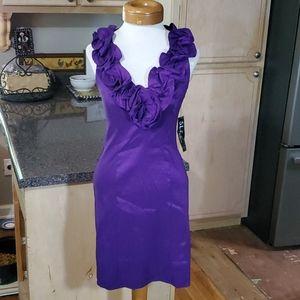 S.L. Fashions Purple Dress